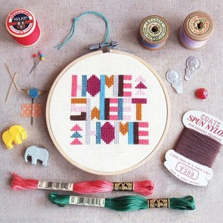 Cross Stitch KIT - Geometric Home Sweet Home KIT