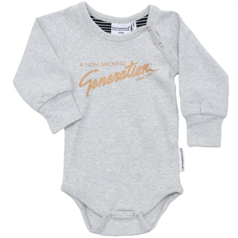 [Nordic children's clothing] Swedish organic cotton baby clothes 6M to 18M gray