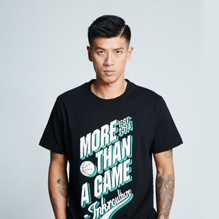 [Spokesman topic ° #MoreThanAGame] American classic fashion short T (black)