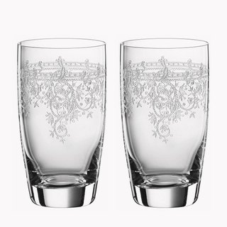 (a pair of price) 360cc [wedding special] Germany SPIEGELAU retro art platinum white crystal cup