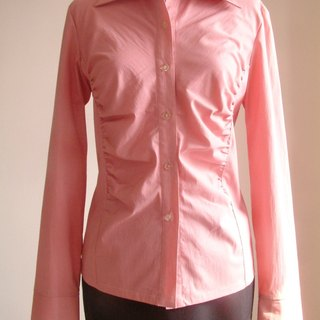 Plain long-sleeved shirt - pink