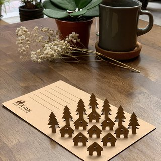 [EyeDesign see three-dimensional design] Christmas black card / kraft paper card - Christmas tribe