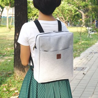 Tofu brick backpack | linen ash