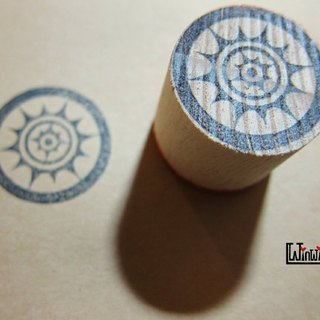 Eye sun small stamp