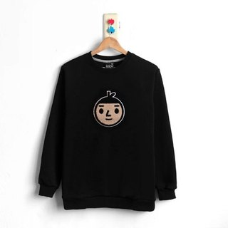 [BestFriend] Jumbo BoyFriend Long Sleeve Sweat / long-sleeved University T (black) / Size: 1