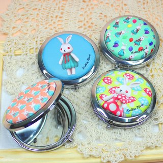 (Rabbit Mint) rabbit round mint sided mirror box - (MR0001)