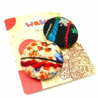 WaWu exclusive designer handmade cloth badge (in) color yarn (2 / a)