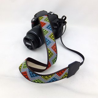 Camera strap can print personalized custom leather stitching national wind embroidery pattern 029