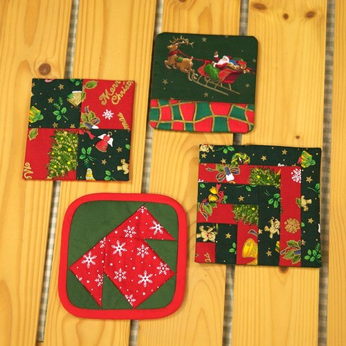 christmas gifts christmas coasters group of four