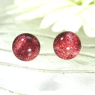 Red / orange color discoloration jewelry glass earrings (autumn good match)