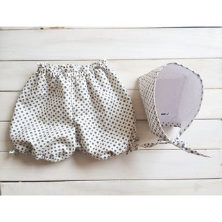 MIT Handmade newborn female baby pants, hat and small moon births attached gift packaging