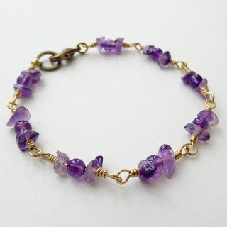 :: Fruity Season:: Amethyst Brass Bracelet - Wild Berries