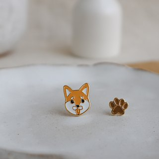 Shiba Inu pin earrings
