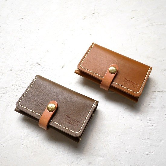 japanese handmade leather business card holder only brown made in japan by - Leather Business Card Holder