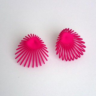 shell pink earrings