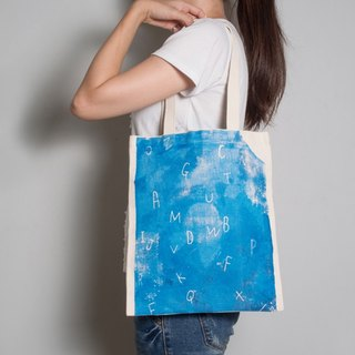 Hand-painted handprints Peibu bag [text] sea-sided pattern hand / shoulder
