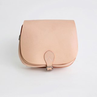 Retro handmade simple handbag leather shoulder diagonal saddle bag female bag