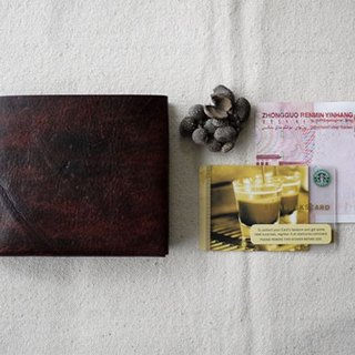 [Kaka & amp; sun] leather wallet short two hand-made leather wallet