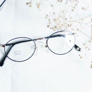 River Water Mountain - 翡冷翠石纹镜脚金 rippled nose beam gold wire dot glasses
