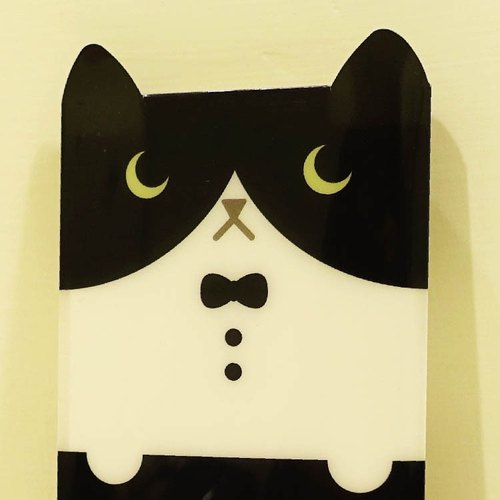 hime's cats my cat portable notebook - black and white cat stripes notebook slipcase +