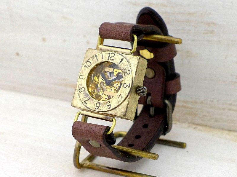 手工手錶HandCraftWatch手動上弦黃銅男士Compass2-BHW BHW049