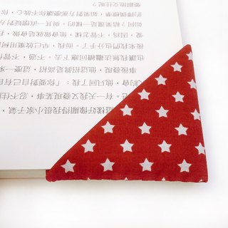 Handmade star cloth bookmarks red