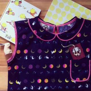 Handmade sleeveless shirts Lai lyrics Fly Rabbit To The Moon.