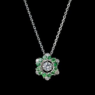 Pole Star Lake Cui - sparkling diamond K gold necklace
