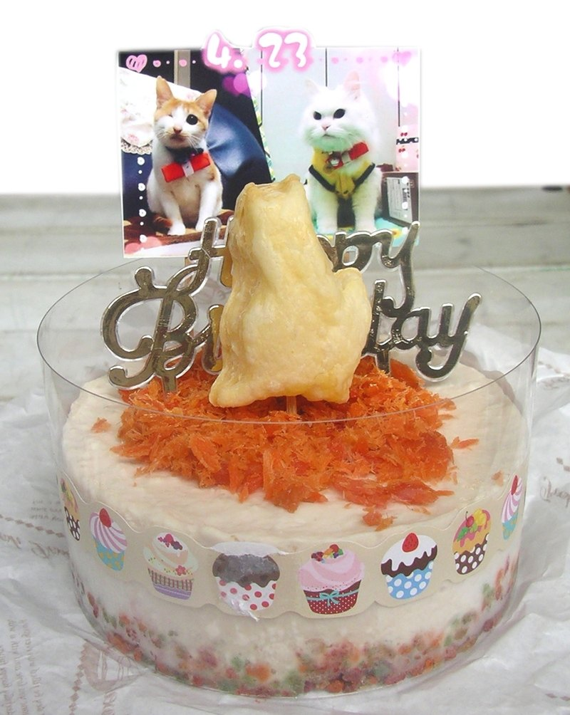[Doli Codfish Pine] Cat Mousse Birthday Cake - 4吋