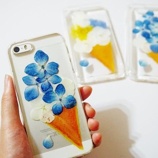 Pressed Flowers Phone Cases - Sweet Flower Cone (Tears) Collection for iphone 5/5s/SE/6/6s/6 plus/6s plus/7/7plus/Samsung S4/S5/S6/S6Edge/S7/S7Edge/Note3/Note4/Note5