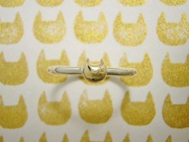 miaow icon ring K18 gold(cat K18 gold silver ring貓貓戒指指環指環刻字金銀)