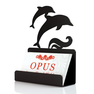 [OPUS East Qi metalworking] Continental Iron Card Holder / Corporate Gifts / Stationery Gifts / graduation gift / Taiwan gifts (dolphin)