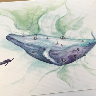 Humpback Whale in Disaster - artwork available in Blank Card & Print