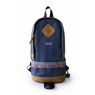 Matchwood Wood Design Matchwood Bilayer Shoulder Backpack Backpack Side Blue