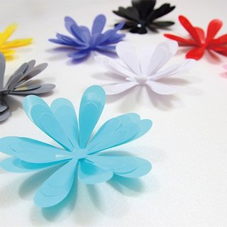 HomePlus 3D Flowers 12pcs Wall Stickers Decoration