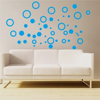 Smart Design Seamless wall stickers creative color optional ◆ Round 8