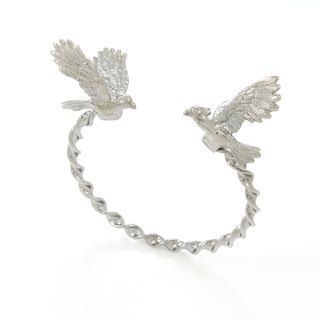 Cockatoo Bangle - black ruthenium