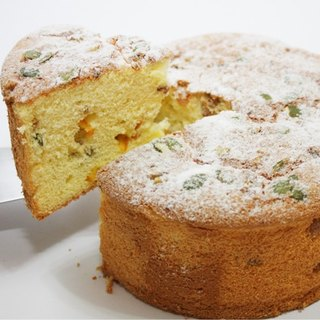 Walnut pumpkin seeds fragrant orange chiffon cake