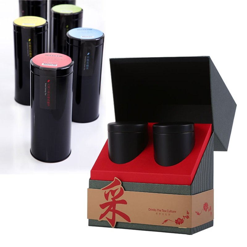 采‧時尚散茶雙禮盒(輕焙烏龍茶+任選)