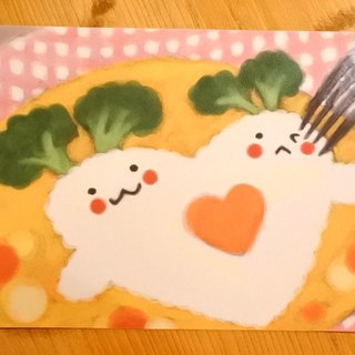 Dream Carrot good mind Postcard [Happy meal / dinner happy]