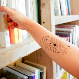 Surprise Tattoos - Solar System Temporary Tattoo