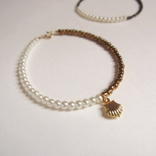 """KeepitPetite"" imitation pearl shell · Exclusive series · Copper Bracelet Creation"
