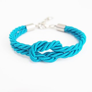 Blue bracelet - Beach bracelet - summer wedding - nautical bracelet - tie the knot bracelet