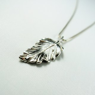Silver feather necklace / clavicle chain / gift / anniversary / Valentine