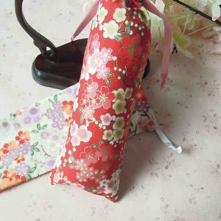 Long Yun Ge - Double Flower and Hand Bundle Pocket Pouch Storage Bag Two Color Optional
