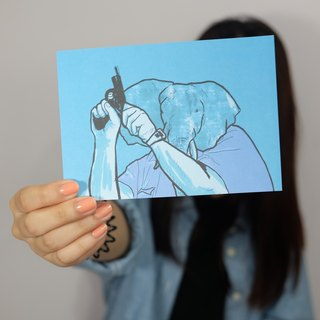 "KATRINA ""elephant"" Postcards"