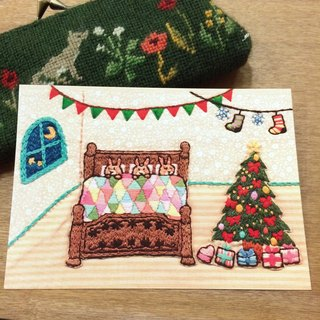 Embroidery Photo Postcard Christmas Card No.10