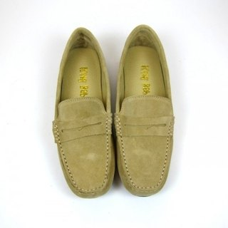 Fort Tony Wang handmade leather shoes (female) [frosted cow / soled / sand color]