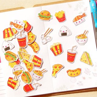 Food Stickers 30 Pieces - Planner Stickers - Stickers for Planner