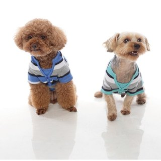 Beechcraft V-neck dress small geometric variations double stripe pet clothes -2